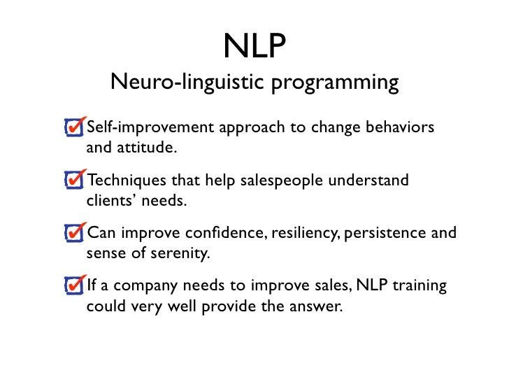 Sales and NLP