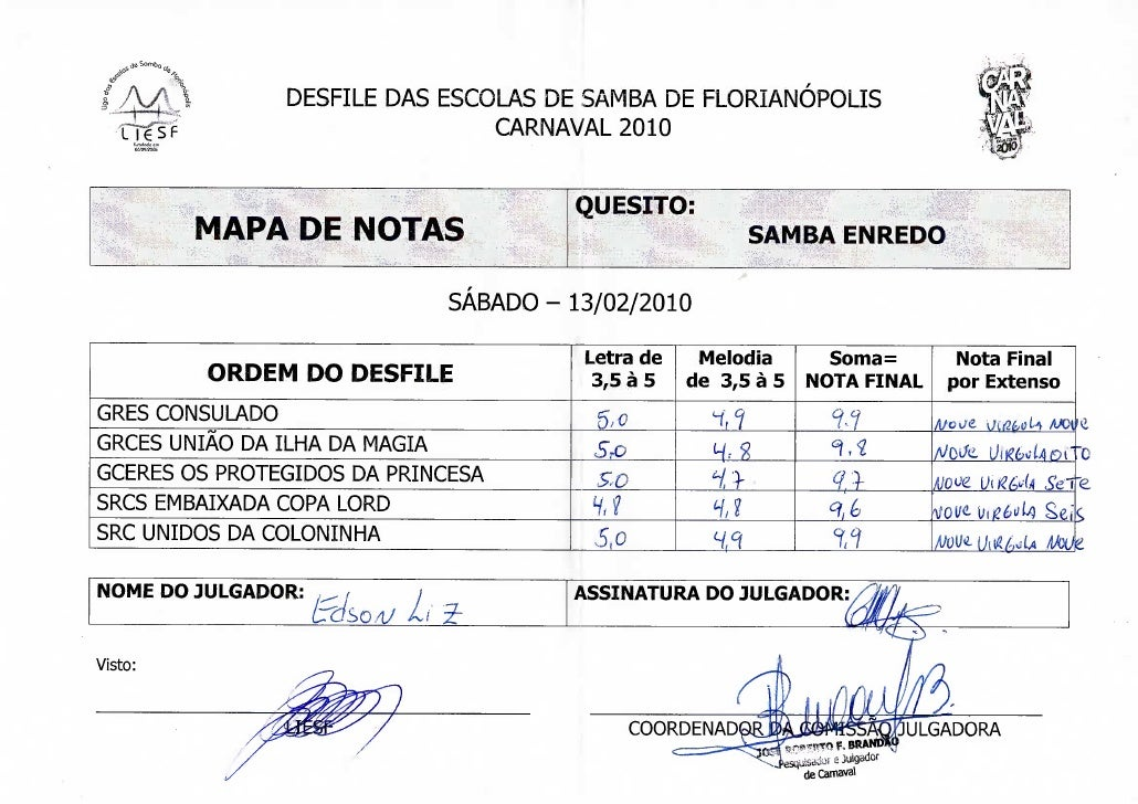 -nb                   DESFILE DAS ESCOLAS DE SAMBA DE FLORIANÓPOLIS                                   CARNAVAL 2010       ...