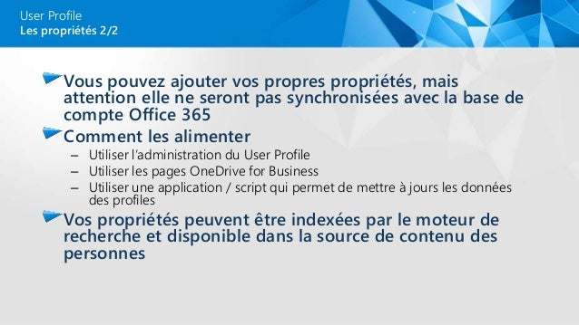 Sharepoint online user profile vs azure ad 2 seeu - Office 365 comment ca marche ...