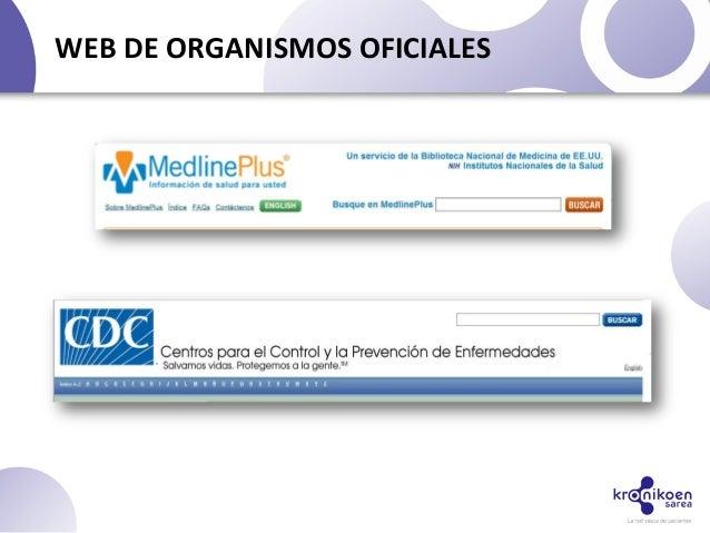 WEB DE ORGANISMOS OFICIALES