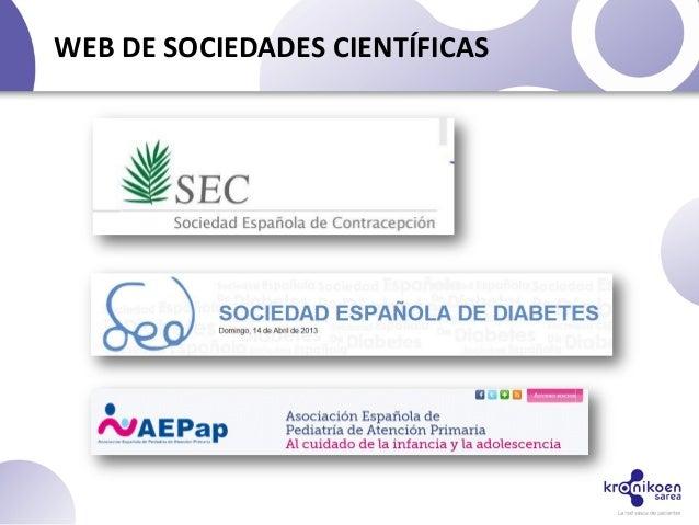 WEB DE SOCIEDADES CIENTÍFICAS