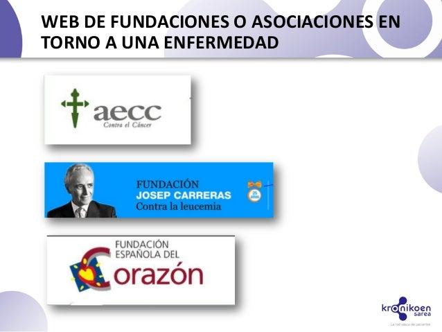 WEB DE FUNDACIONES O ASOCIACIONES ENTORNO A UNA ENFERMEDAD