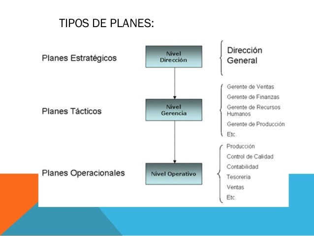 TIPOS DE PLANES: