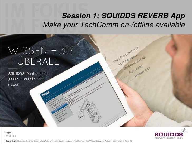 Session 1: SQUIDDS REVERB App                                        Make your TechComm on-/offline availablePage 108.07.2...