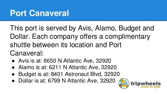 What Car Rental Shuttles To Cruise Port Canaveral