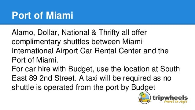 Miami Budget Car Rental Location