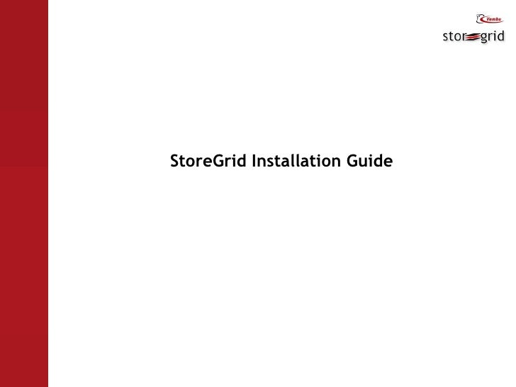 StoreGrid Installation Guide