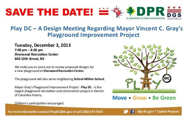 SAVE THE DATE! Design Meeting Tuesday December 3  7 8 Sherwood 640 10th Street  3  We  invite  you  to  come  ou...
