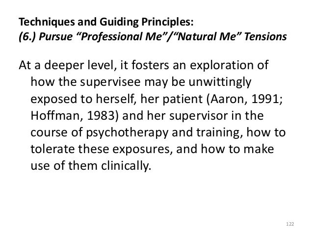 """Techniques and Guiding Principles: (6.) Pursue """"Professional Me""""/""""Natural Me"""" Tensions At a deeper level, it fosters an ex..."""