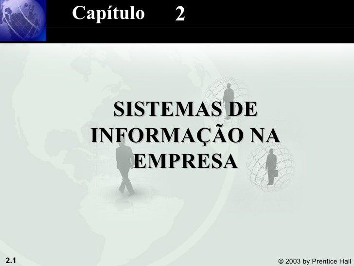 2 SISTEMAS DE INFORMAÇÃO NA EMPRESA Capítulo