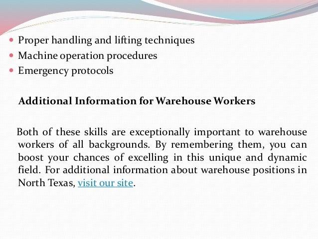 SlideShare  Warehouse Skills