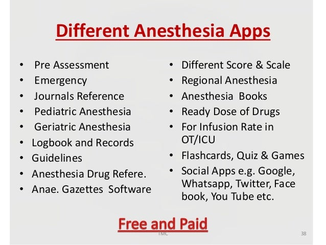 Journal on anesthetic drug