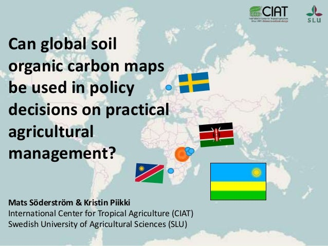Can global soil organic carbon maps be used in policy for Soil organic carbon