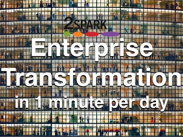 Enterprise Transformation in 1 minute per day
