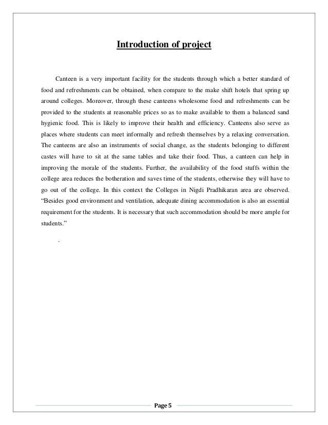 research paper on canteen management system