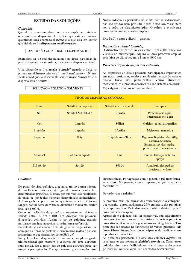 Química 2ª série EM                                         Apostila 1                                               págin...