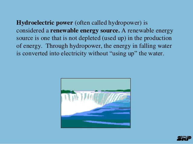 hydroelectric power intro Introduction hydroelectric power -- what is it it=s a form of energy a renewable resource hydropower provides about 96 percent of the renewable energy in the united states.
