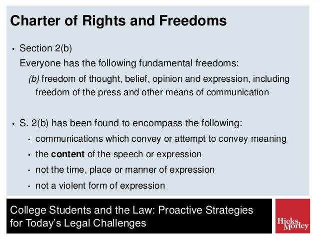 Section 2b Charter Of Rights And Freedoms Essay - Essay ...