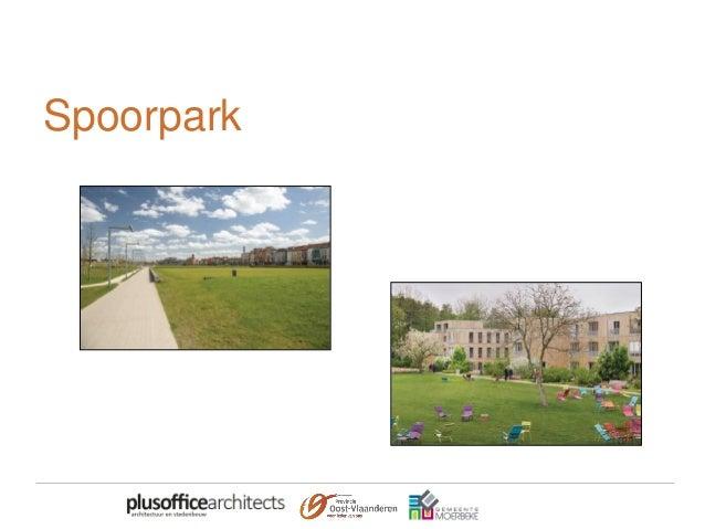 Moervaartpromenade • Voorpleinen en recreatieve voorzieningen aan de Moervaart • Met verbinding voor voetgangers en fietse...