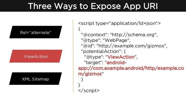ios android app indexing app actions