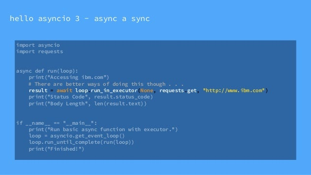 Syncing up with Python's asyncio for (micro) service