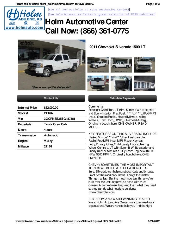 USED Chevrolet Silverado Salina KS Holm Automotive Center - Holm chevrolet