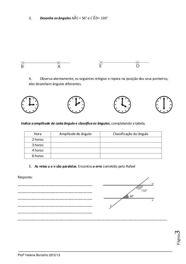 Ficha de Avaliação de Matemática  Slide 3