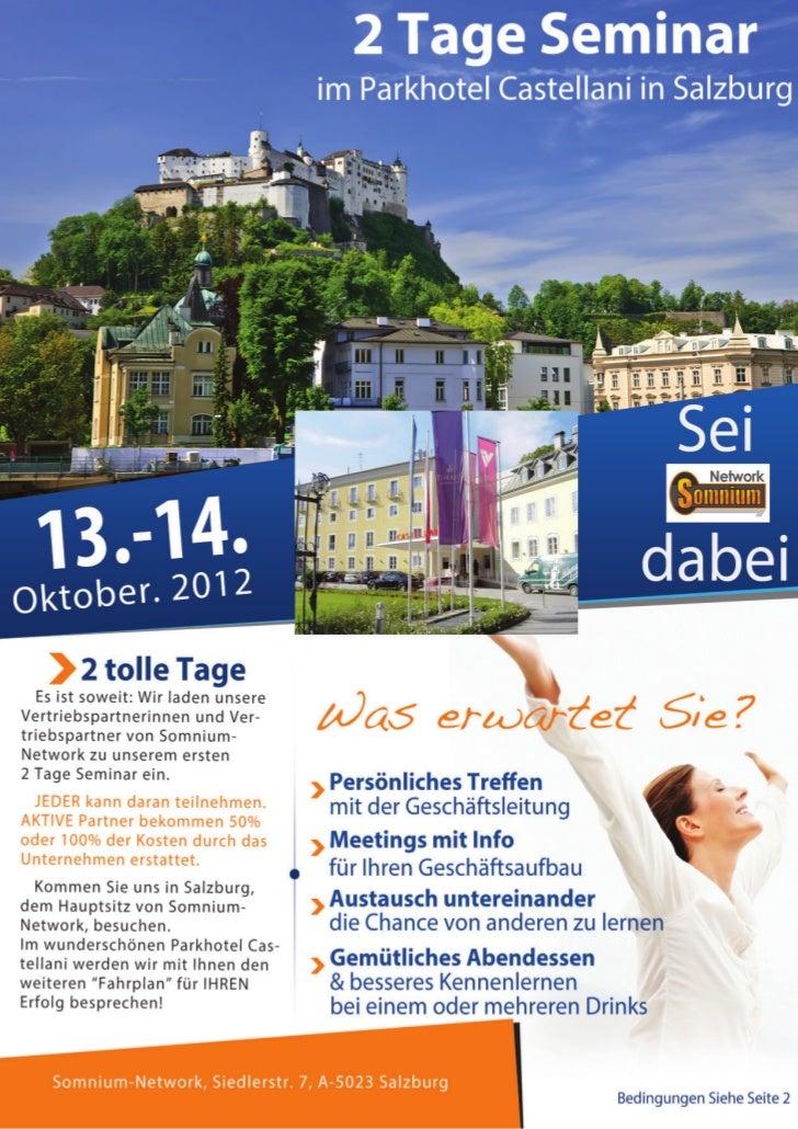 welcome                                                                       2 Tage Seminar2 Tage Seminar in SalzburgLieb...