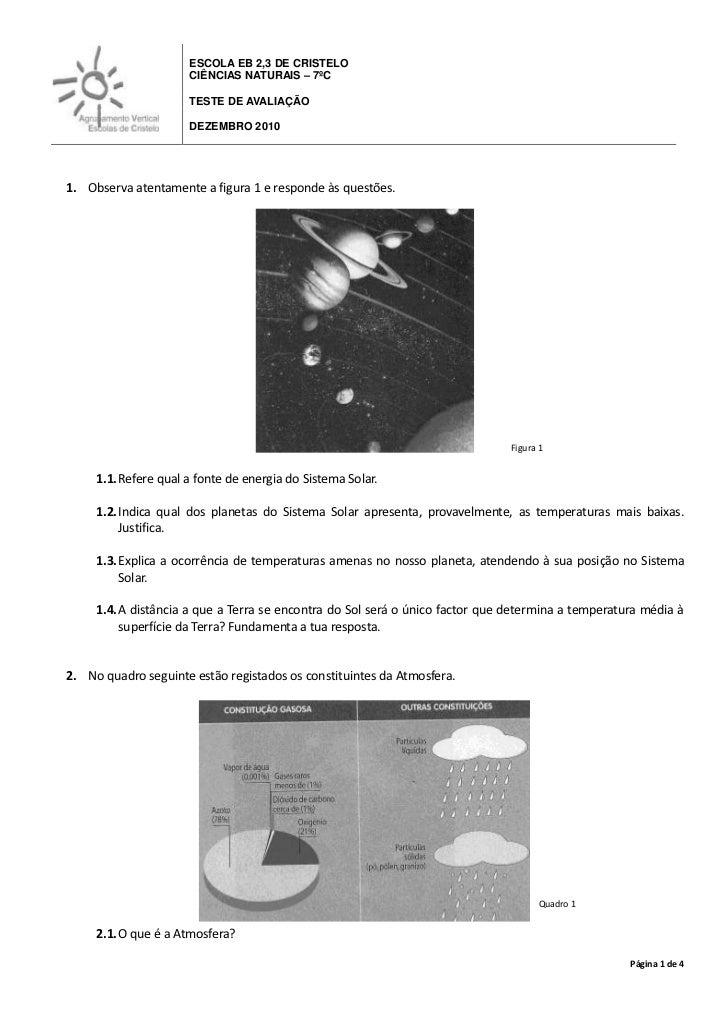 -5969016510ESCOLA EB 2,3 DE CRISTELOCIÊNCIAS NATURAIS – 7ºCTESTE DE AVALIAÇÃO                                             ...