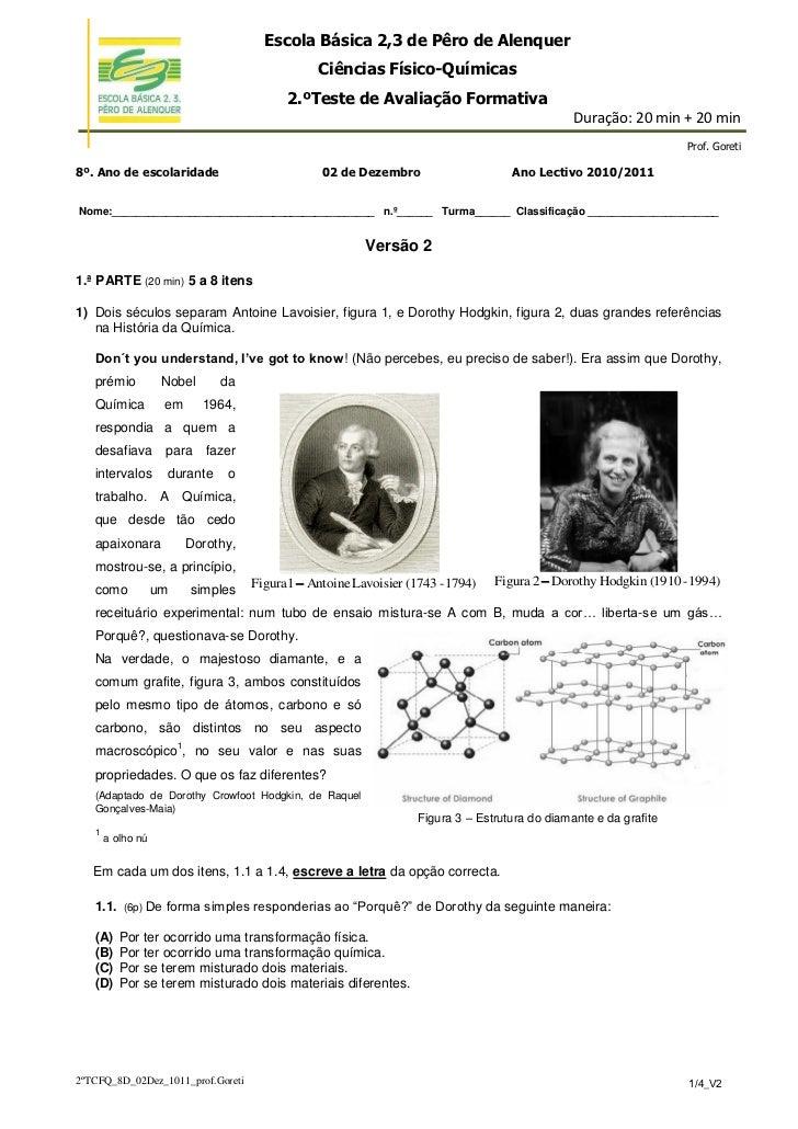 Escola Básica 2,3 de Pêro de Alenquer                                                   Ciências Físico-Químicas          ...
