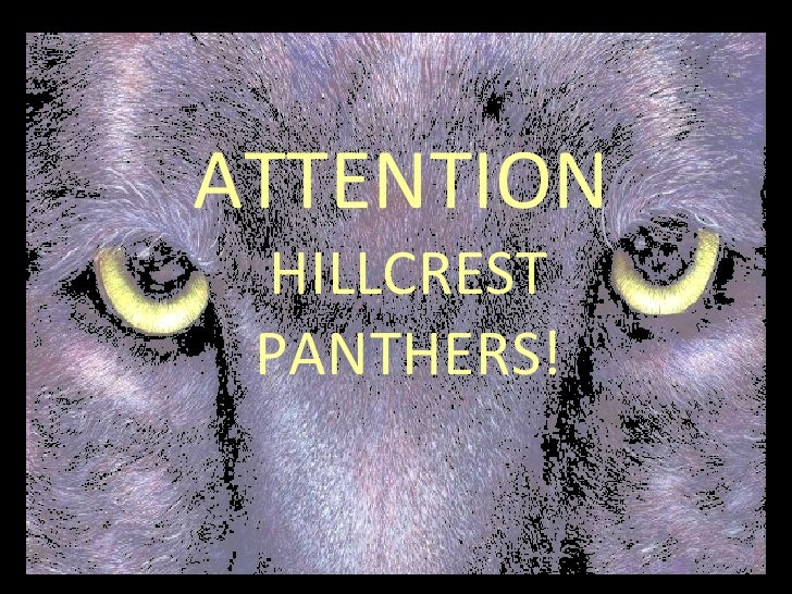 ATTENTION   HILLCREST PANTHERS!