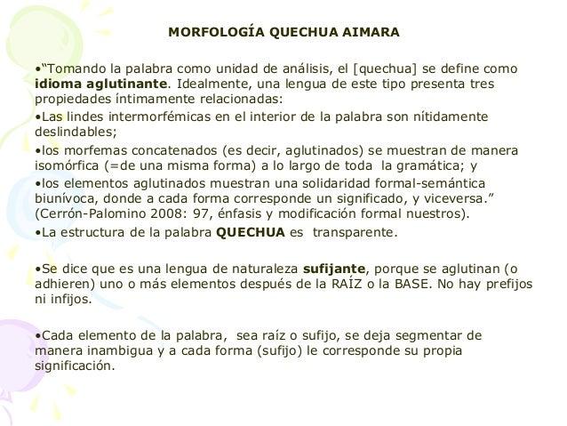 2  tema  2 quechumara  morfologia Slide 2