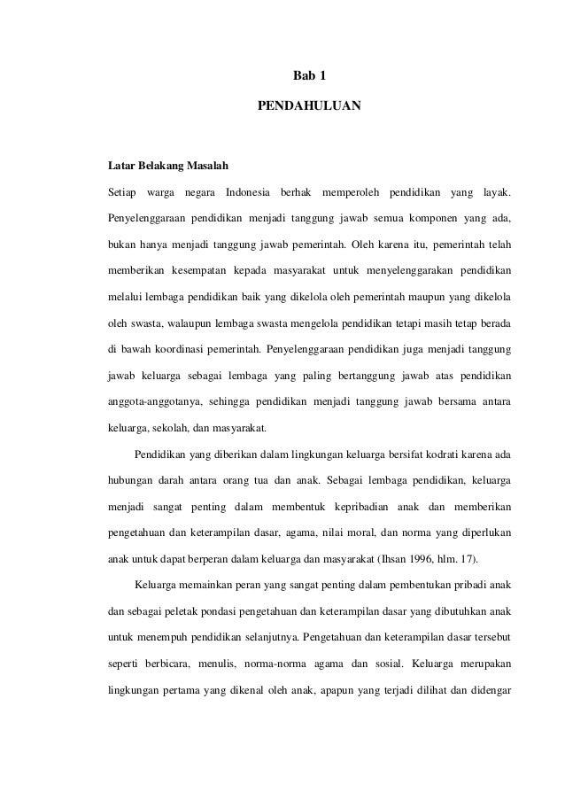 Bab 1 PENDAHULUAN Latar Belakang Masalah Setiap warga negara Indonesia berhak memperoleh pendidikan yang layak. Penyelengg...