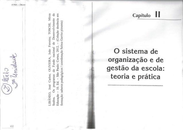2º texto da 2ª unidade ( o sistema de organização e de gestão da escola)