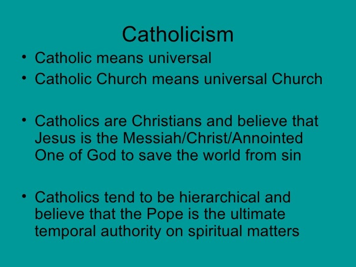 An overview of the sociology of the catholic church