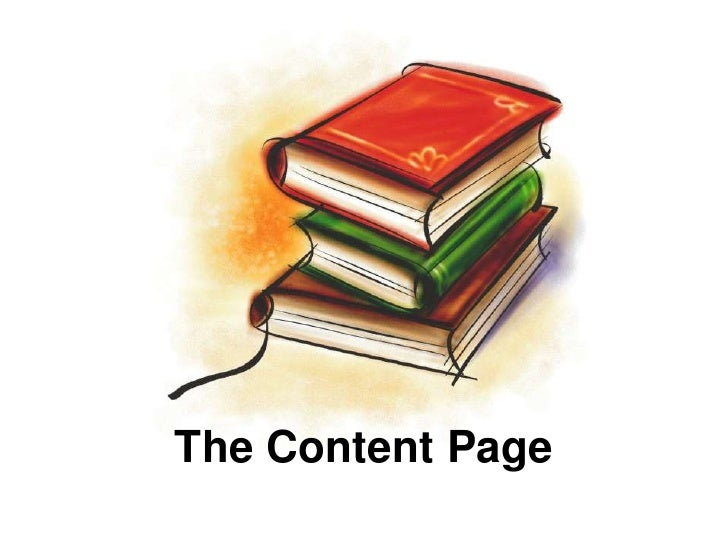 The Content Page<br />