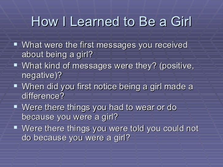 How to be good to a girl