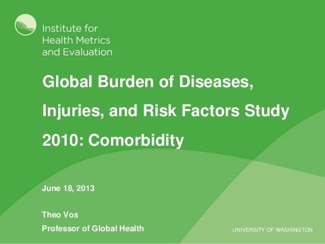 UNIVERSITY OF WASHINGTON Global Burden of Diseases, Injuries, and Risk Factors Study 2010: Comorbidity June 18, 2013 Theo ...