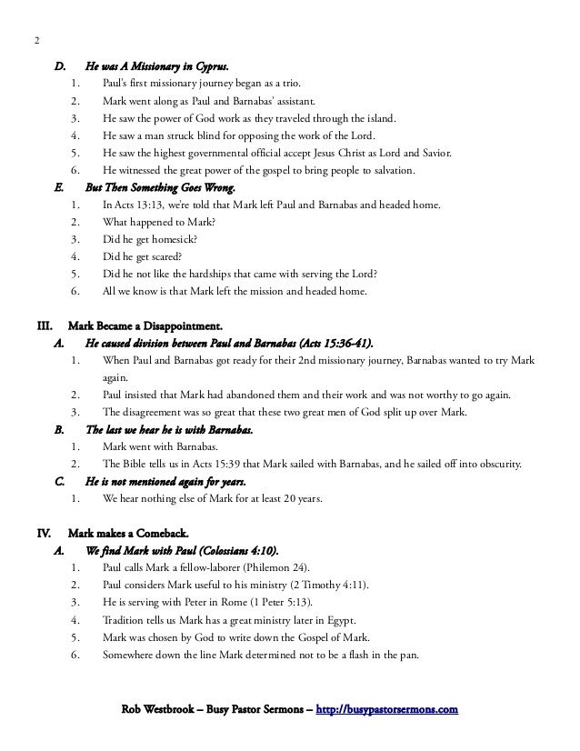 what is the basic message of marks gospel essay Read how to explain the gospel to children by john macarthur and more  the essential truths are basic enough that even  the gospel is the same message for.