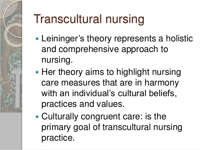 transcultural nursing Students searching for transcultural nurse: education, training & salary found  the articles, information, and resources on this page helpful.