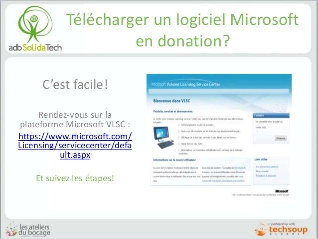 Télécharger un logiciel Microsoft en donation? C'est facile! Rendez-vous sur la plateforme Microsoft VLSC : https://www.mi...