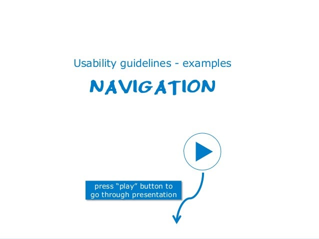 Centre for the Promotion of Imports from developing countries1 14 januari 2014 Usability guidelines - examples NAVIGATION ...