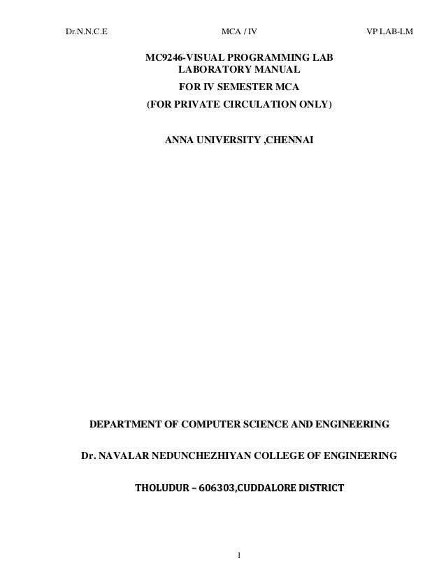 2vb rh slideshare net CMY Programming Lab Answers visual programming lab manual for bca bangalore university