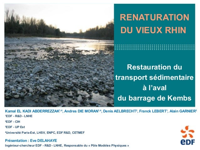 1RENATURATIONDU VIEUX RHINRestauration dutransport sédimentaireà l'avaldu barrage de KembsKamal EL KADI ABDERREZZAK1,4, An...
