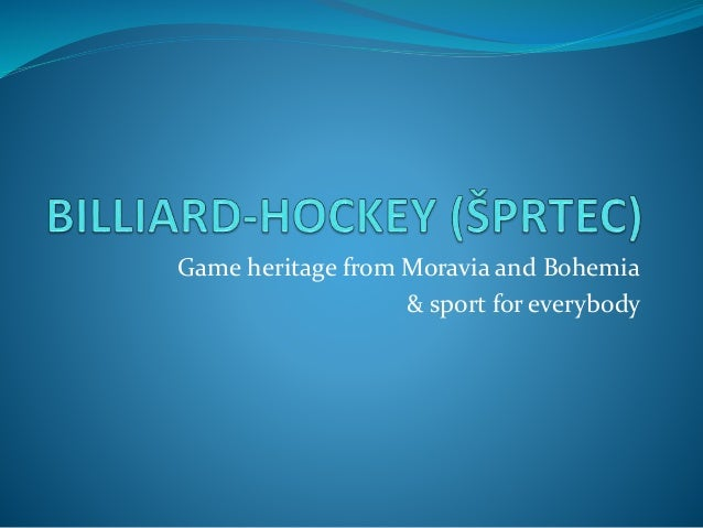 Game heritage from Moravia and Bohemia & sport for everybody