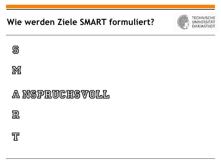 Wie werden Ziele SMART formuliert?