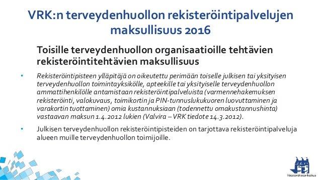 Julkisen Terveydenhuollon Maksut