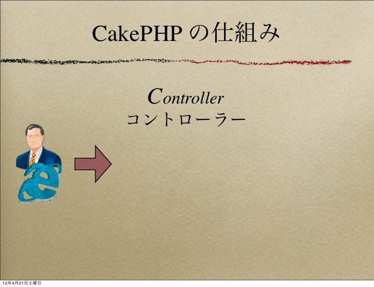 CakePHP の仕組み                 Controller                コントローラー12年4月21日土曜日