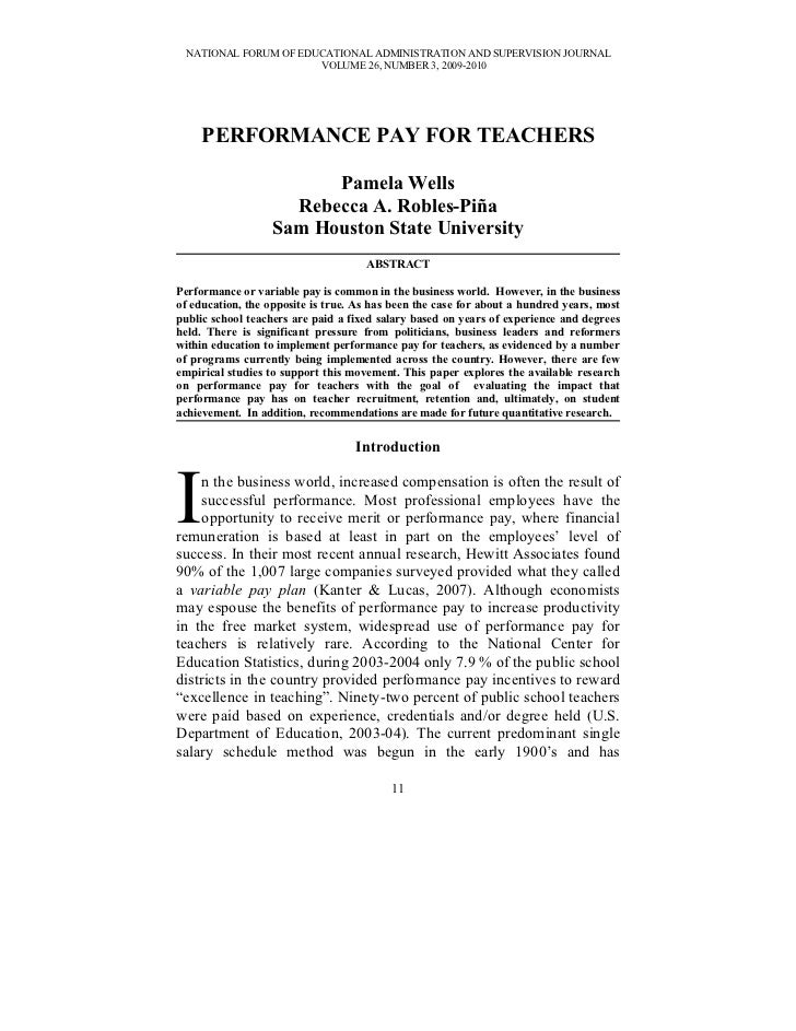 NATIONAL FORUM OF EDUCATIONAL ADMINISTRATION AND SUPERVISION JOURNAL                      VOLUME 26, NUMBER 3, 2009-2010  ...