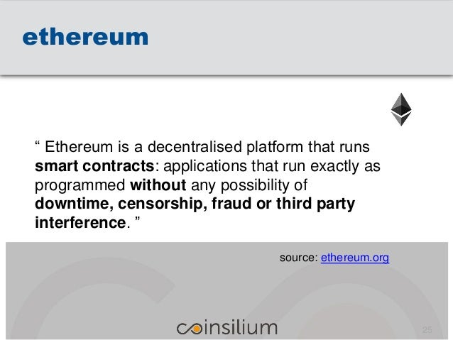 """ethereum """" Ethereum is a decentralised platform that runs smart contracts: applications that run exactly as programmed wit..."""